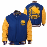 Golden State Warriors JH Design Two-Tone All-Wool Jacket - Royal/Gold