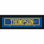 Golden State Warriors Klay Thompson Jersey Stitch Framed Prints Charming Print