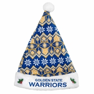Golden State Warriors Knit Santa Hat - Royal/White