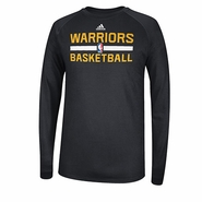 Golden State Warriors adidas Long Sleeve CLIMALITE At Practice-Black