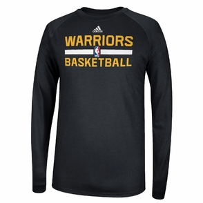 Golden State Warriors Long Sleeve CLIMALITE At Practice - Black - Click to enlarge