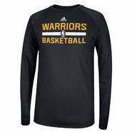 Golden State Warriors Long Sleeve CLIMALITE At Practice - Black