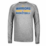 Golden State Warriors adidas Long Sleeve CLIMALITE At Practice-Grey
