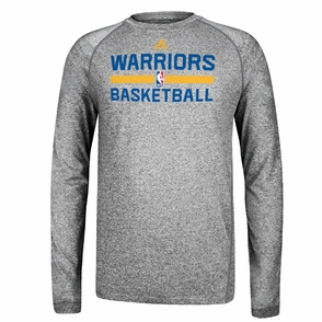 Golden State Warriors Long Sleeve CLIMALITE At Practice - Grey - Click to enlarge