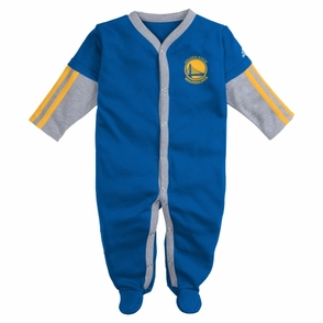 Golden State Warriors Long Sleeve Jersey Coverall-Royal - Click to enlarge