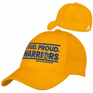 Golden State Warriors Loud Proud Flex Fit Playoff Cap - Gold