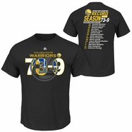 Golden State Warriors Majestic 73-9 Roster Short Sleeve Tee - Black
