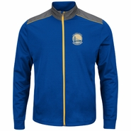 Golden State Warriors Majestic Men�s Synthetic Reflective Primary Logo Track Jacket - Royal