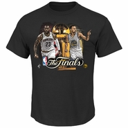 "Golden State Warriors Majestic NBA Finals ""Fire To Win"" Player Match-Up Tee - Black"