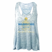 Golden State Warriors Majestic Threads Women�s Visionary Slub Racerback Tank w/ Thermal Detail � Royal