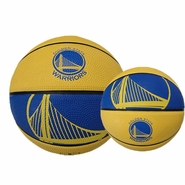 Golden State Warriors Mini Spalding Basketball - Royal/Gold