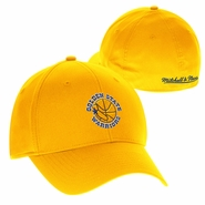 Golden State Warriors Mitchell & Ness 1989-1997 Hardwood Classic Logo Basic Wash Flex Fit Slouch � Gold
