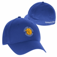 Golden State Warriors Mitchell & Ness 1989-1997 Hardwood Classic Logo Basic Wash Flex Fit Slouch � Royal