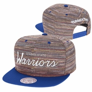 Golden State Warriors Mitchell & Ness Knit Crown Snapback � Team Colors