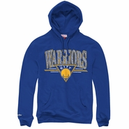 Golden State Warriors Mitchell & Ness NBA Abstract Vibes Pullover Hoody - Royal