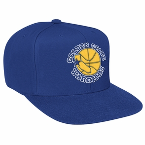 Golden State Warriors Mitchell & Ness NBA Hardwood Classics State Logo Wool Snapback Hat - Royal - Click to enlarge