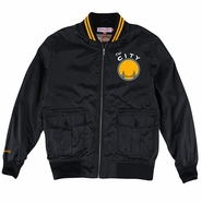 Golden State Warriors Mitchell & Ness 'The City' NBA Play Caller Woven Jacket - Black