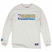 Golden State Warriors Mitchell & Ness NBA Team Issued Longsleeve Tee � Grey