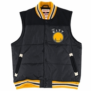 Golden State Warriors Mitchell & Ness 'The City' NBA Title Holder Vest - Black