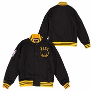 Golden State Warriors Mitchell & Ness Nothing But Net 'The City' Warm Up Jacket - Black/Gold