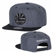 Golden State Warriors Mitchell & Ness Partial Logo Cation 2-Tone Snapback - Grey/Black