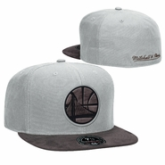 Golden State Warriors Mitchell & Ness Partial Logo Dark Agent Fitted Cap � Grey