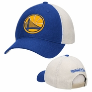 Golden State Warriors Mitchell & Ness Partial Logo Mesh Back Slouch Snapback - Royal