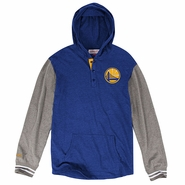 Golden State Warriors Mitchell & Ness Partial Logo Mid-Season Hooded Long Sleeve - Royal