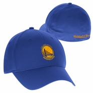 Golden State Warriors Mitchell & Ness Primary Logo Basic Wash Flex Fit Slouch � Royal
