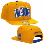 Golden State Warriors Mitchell & Ness Reflective Arch Snapback - Gold