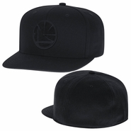 Golden State Warriors Mitchell & Ness Team Blacked Out High Crown Fitted Cap - Black