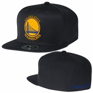 Golden State Warriors Mitchell & Ness Team Solid High Crown Fitted Cap - Black