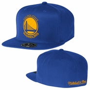 Golden State Warriors Mitchell & Ness Team Solid High Crown Fitted Cap - Royal