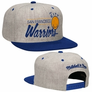 "Golden State Warriors Mitchell & Ness ""The City"" Bar Script Snapback - Grey"