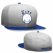 Golden State Warriors Mitchell & Ness �The City� Fade 2 Tone Fitted Cap � Grey