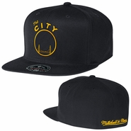 "Golden State Warriors Mitchell & Ness ""The City"" Hi-Crown Fitted Hat - Black"