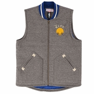 Golden State Warriors Mitchell & Ness 'The City' Margin of Victory Vest - Grey