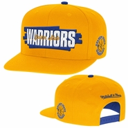 Golden State Warriors Mitchell & Ness Winning Streak Snapback Hat - Gold