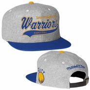 Golden State Warriors NBA 'The City' Hardwood Classics Dark Tailsweeper Melton Mitchell & Ness Strapback