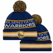 Golden State Warriors New Era Primary Vintage Select Pom Knit - Royal