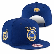 Golden State Warriors New Era Stephen Curry #30 Back to Back MVP Hardwood Classics 9FIFTY Snapback - Royal