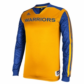 Golden State Warriors adidas On-Court Long Sleeve Shooter-Gold - Click to enlarge