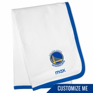 Golden State Warriors Personalized Baby Blanket by Chad & Jake