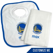 Golden State Warriors Personalized Bib and Burp Set by Chad & Jake