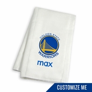 Golden State Warriors Personalized Burp Cloth by Chad & Jake