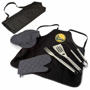 Golden State Warriors Picnic Time&reg BBQ Apron Tote PRO Set