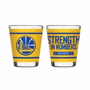 Golden State Warriors Playoff Slogan Sublimated Shot Glass