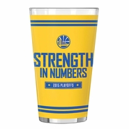 Golden State Warriors Playoff Slogan Sublimated Pint Glass