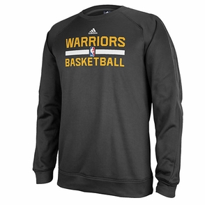 Golden State Warriors adidas Practice Crew-Black - Click to enlarge