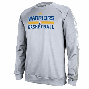 Golden State Warriors adidas Practice Crew-Grey - Click to enlarge